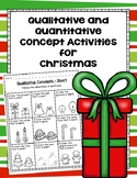 Qualitative and Quantitative Concept Activities for Christmas