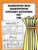 Qualitative and Quantitative Concept Activities for Fall