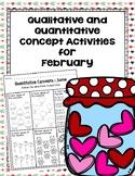 Qualitative and Quantitative Concept Activities for February