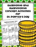 Qualitative and Quantitative Concept Activities for St. Patrick's Day