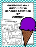 Qualitative and Quantitative Concept Activities for Summer