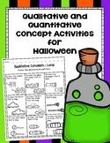 Qualitative and Quantitative Concept Activities for Halloween