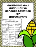 Qualitative and Quantitative Concept Activities for Thanksgiving
