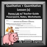 Qualitative and Quantitative Data Lessons -- PowerPoint, Lab, Worksheets