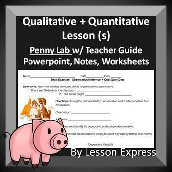 Qualitative and Quantitative Data Lessons -- PowerPoint, Lab, Worksheets