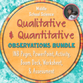 Qualitative and Quantitative Observations Bundled Science Package