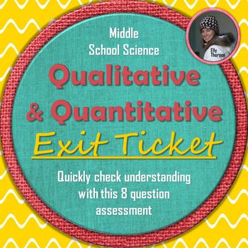 Qualitative and Quantitative Observations Exit Ticket