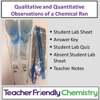 Chemistry Lab: Qualitative and Quantitative Observations in a Chem Reaction