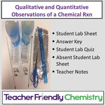 Chemistry Lab: Qualitative and Quantitative Observations