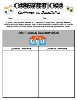 Qualitative and Quantitative Observations Practice