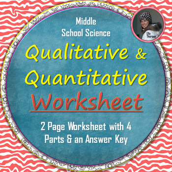 Qualitative and Quantitative Observations Worksheet