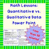 Qualitative vs. Quantitative Data - A Power Point Lesson