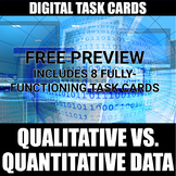 Qualitative vs. Quantitative Digital Task Cards FREE PREVI