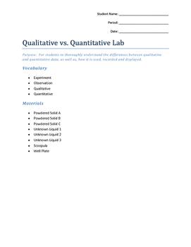Qualitative vs. Quantitative Lab