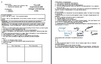 Qualitative vs. Quantitative Lab Experiment and Comp Notebook Insert