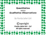 Qualitative vs. Quantitative Observations Card Sort