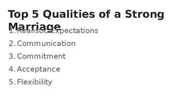 Qualities of Committed Relationships Powerpoint