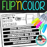 Qualities of a Good Friend Flip'n Color Foldable