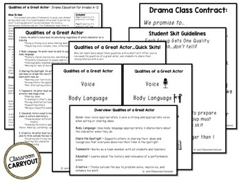 Qualities of a Great Actor: Behavior Management for Drama Class