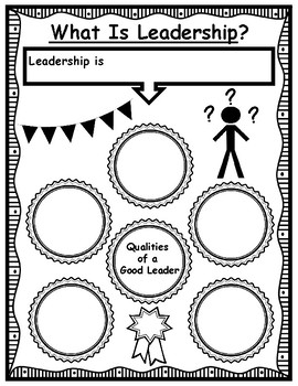Qualities of a Leader Brainstorming Graphic Organizer