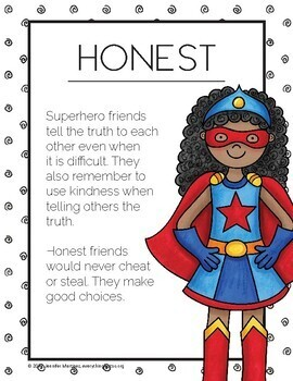 Qualities of a Superhero Friend Posters #kindnessnation #weholdthesetruths