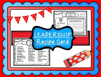 Qualities of an Effective Leader Recipe Card