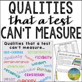 Qualities that a Test Can't Measure Activity