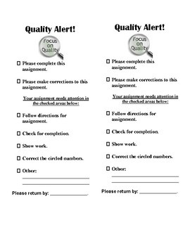 Quality Alert Ticket