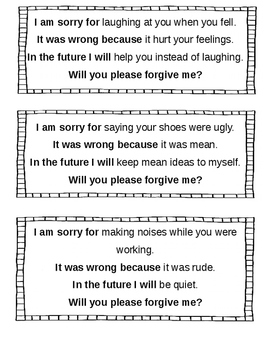 Quality Apology Statements