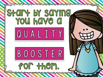 Quality Booster Posters for Teaching Peer Critiquing