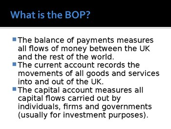 Quality PPTs for A Level / IB / AP Economics topic: Balance of Payments / BOP