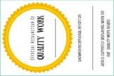 Quality Work Award