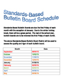 Quality Work Bulletin Board Schedule
