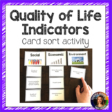 Quality of Life Indicators Card Sorting Activity