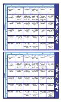 Quantifiers Battleship Board Game