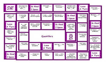Quantifiers Legal Size Text Board Game