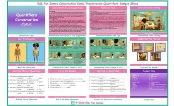 Quantifiers Conversation Comic Presentation