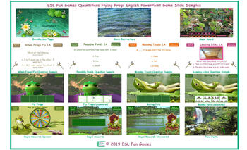 Quantifiers Flying Frogs English PowerPoint Game