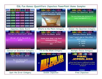 Quantifiers Jeopardy PowerPoint Game