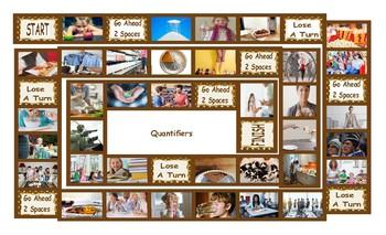 Quantifiers Legal Size Photo Board Game