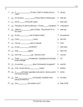 Quantifiers Matching Exam