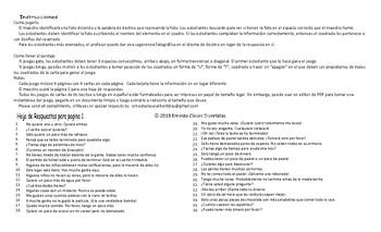 Quantifiers Spanish Legal Size Photo Tic-Tac-Toe-Bingo Game