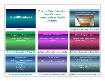Quantifiers Spanish PowerPoint Presentation