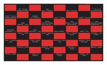 Quantifiers Tense Checker Board Game
