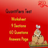 ESL Quantifiers Test - 60 QUESTIONS WITH ANSWER KEY