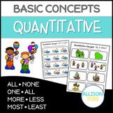 Quantitative Concepts NO PREP Speech Therapy