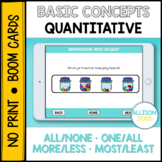 Quantitative Concepts BOOM Cards™️ Speech Therapy Distance Learning