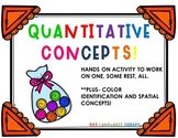 Quantitative Concepts- Speech Therapy Activity with Home P