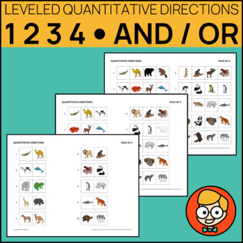 Leveled Quantitative Directions: One/Two/Three, And/Or