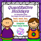 Quantitative Game: Least, Most, Less, More, Equal and Irre